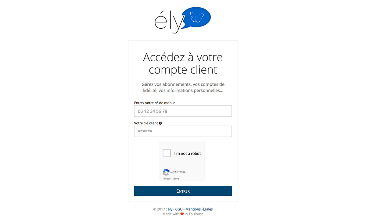 Ely client website